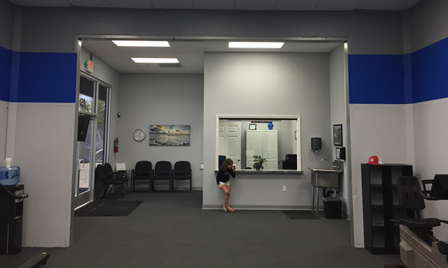 VAN DUSEN Physical Therapy reception area